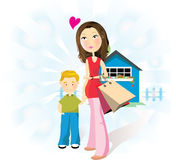 мать ребенка иллюстрация вектора