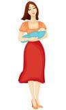 мать ребенка Иллюстрация штока