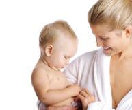 мать ребёнка счастливая Стоковое Изображение