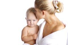 мать ребёнка счастливая Стоковая Фотография