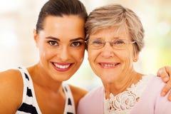 Мать старшия женщины Стоковое Фото