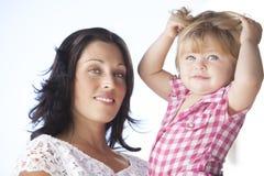 Мать с ее красивой дочерью Стоковое фото RF