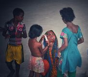 Мать с детьми Стоковая Фотография RF
