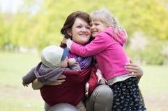 Мать с 2 дет Стоковые Изображения RF