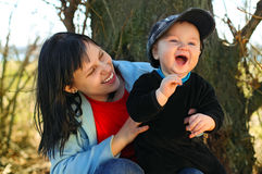 Мать с младенцем Стоковое Изображение RF