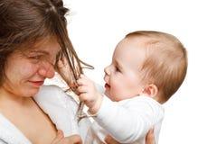 Мать с младенцем Стоковое фото RF