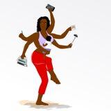 Мать Multitasking супер с 6 оружиями. бесплатная иллюстрация