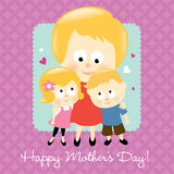мать s белокурого дня счастливая Стоковое Фото