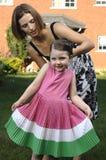 мать s волос отладки дочи Стоковое Изображение RF