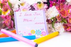 мать s мамы влюбленности дня счастливая I вы Стоковые Изображения RF
