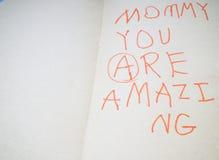 мать s дня карточки Стоковое Изображение RF