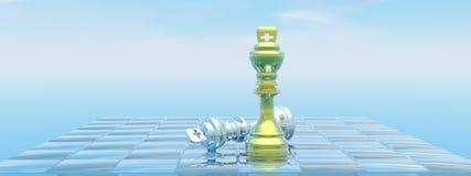 Мат королей - 3D представляют Стоковые Фотографии RF