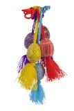 Мах пасхи красит деревянные яичка вертикальный Стоковая Фотография