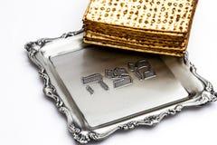 Мацы для еврейской пасхи Handmade с шаром серебра a Стоковые Изображения RF