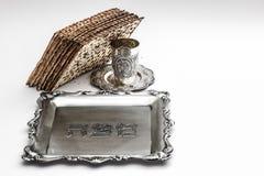 Мацы для еврейской пасхи Handmade с шаром серебра a Стоковые Изображения