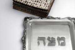 Мацы для еврейской пасхи Handmade с шаром серебра a Стоковое Изображение RF