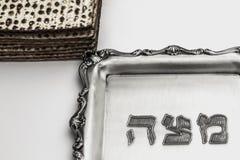 Мацы для еврейской пасхи Handmade с шаром серебра a Стоковая Фотография RF