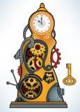 Машина времени иллюстрация вектора