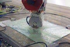 Машина гравируя стекло Стоковая Фотография RF