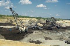 Машина добычи угля экскаватора шахты Стоковое Изображение
