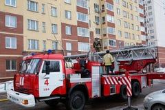 Машина защиты от огня Россия, Уфа - 13-ое марта 2016 стоковые изображения rf