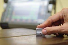 Машина испытания пользы контролера ультразвуковая на дефект i осмотра Стоковое Изображение
