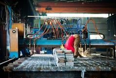 Машина кислородной резки CNC стоковые фотографии rf