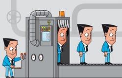 Машина клонирования бизнесменов иллюстрация вектора