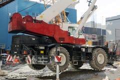 Машина конструкции в городе Стоковые Фото