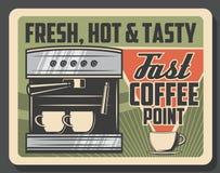 Машина кофе, кафе и эспрессо coffeeshop иллюстрация штока