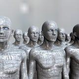 Машина людей - искусственный интеллект. Стоковая Фотография