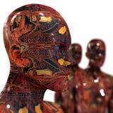 Машина людей - искусственный интеллект. Стоковые Фотографии RF