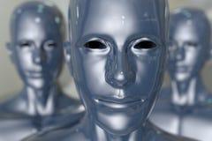 Машина людей - искусственный интеллект. Стоковые Изображения RF