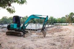 Машина на строительной площадке Стоковые Фотографии RF