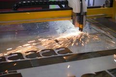 Машина отрезка лазера CNC стоковые изображения rf