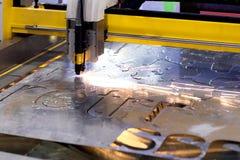 Машина отрезка лазера CNC стоковое изображение