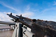 машина пушки линкора Стоковая Фотография