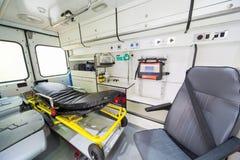 Машина скорой помощи внутрь Стоковое Фото