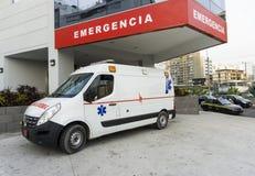 Машина скорой помощи в городе Стоковые Фото