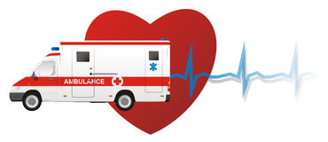 машина скорой помощи голодает иллюстрация штока