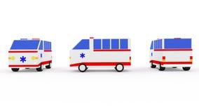 Машина скорой помощи фургон 3D Стоковое Изображение
