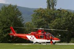 Машина скорой помощи Helicopret Стоковая Фотография