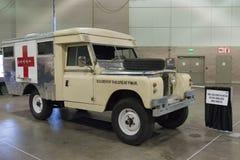 Машина скорой помощи Land Rover IIA великобританская воинская Стоковое Фото