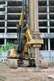 Машина снаряжения кучи скважины в строительной площадке Стоковое фото RF