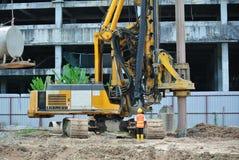 Машина снаряжения кучи скважины в строительной площадке Стоковые Изображения RF
