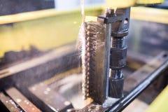 Машина токарного станка в обрабатывать стоковая фотография