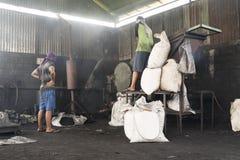 Машина для powderizing науглероживанные раковины кокоса Стоковая Фотография RF