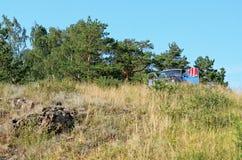 Машина na górze леса горы Стоковое фото RF