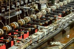 Машина Silk червей обрабатывая в Шанхае Стоковые Изображения