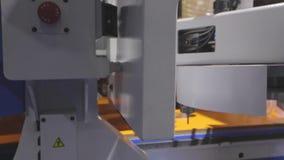 Машина woodworking CNC видеоматериал